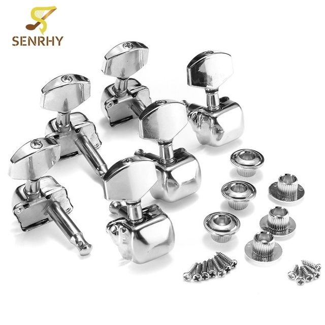 6PCS Guitar Parts Accessories Acoustic Guitar Tuning Pegs 3R+3L Guitar String Semiclosed Tuning Pegs Tuners Machine Heads