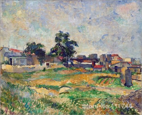artwork of Paul Cezanne Landscape near Paris modern paintings Landscape handmade High Quality