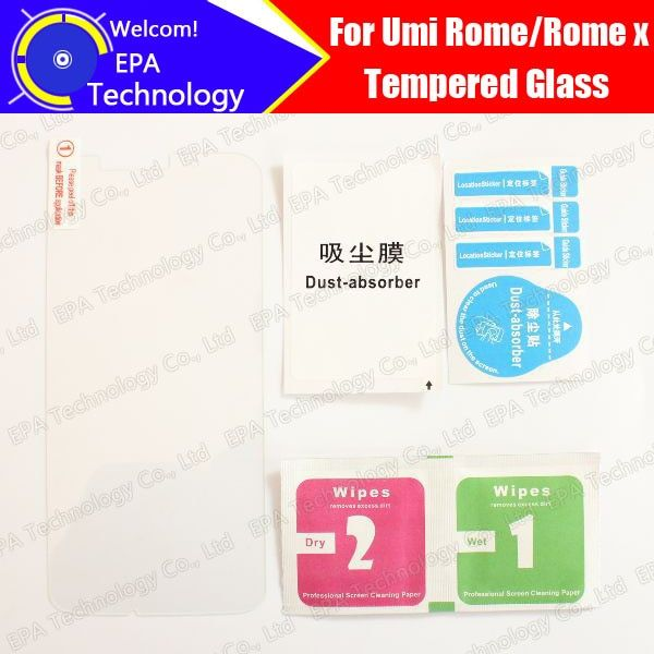 Umi Rome/Rome X Tempered Glass 100% New High Quality Premium 9H Screen Protector Cell Phone Film for Rome/Rome X