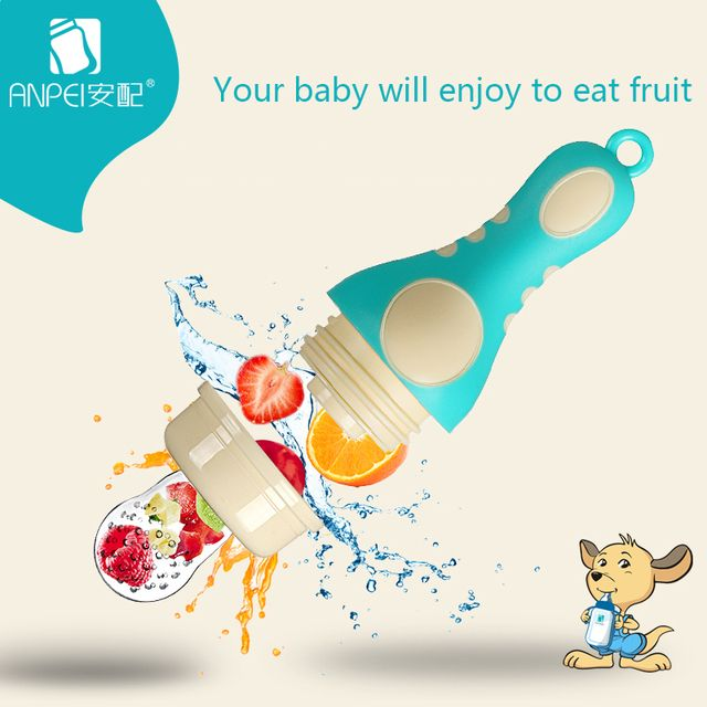 Baby Fruit And Vegetable Food Feeder Infant Pacifier Teether Soft Silicone Nipple Feeder Safe Kids Supplies Teat Bottles