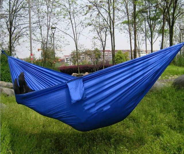 Portable Outdoor Leisure Traveling Camping Parachute Nylon Fabric Parachute  Hammock for Two Person 8 Colors High Quality