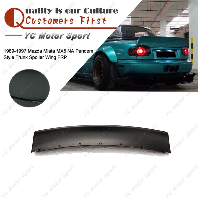 Car Accessories FRP Fiber Glass Rear Wing Fit For 1989-1997 Miata MX5 NA PD Style Trunk Spoiler Wing