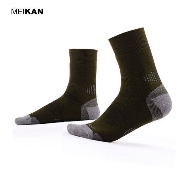 Professional Outdoor Sports Socks Men Cushioned Chaussettes Homme Lot MEIKAN Brand Cotton Terry Nonslip Compression Thermal Sox