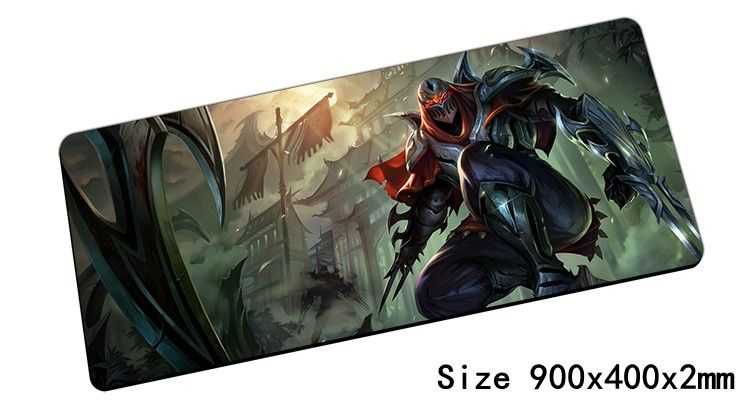 Popular Zed mouse pad 90x40cm pad mouse lol notbook computer mousepad Master of Shadows gaming padmouse gamer laptop mouse mats