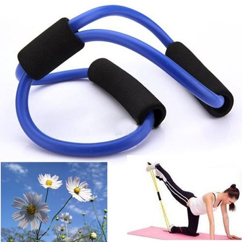 Resistance Training Exercise Muscle Elastic Band Tube Weight Control Fitness Stretch Equipment For Yoga Multicolor Durable