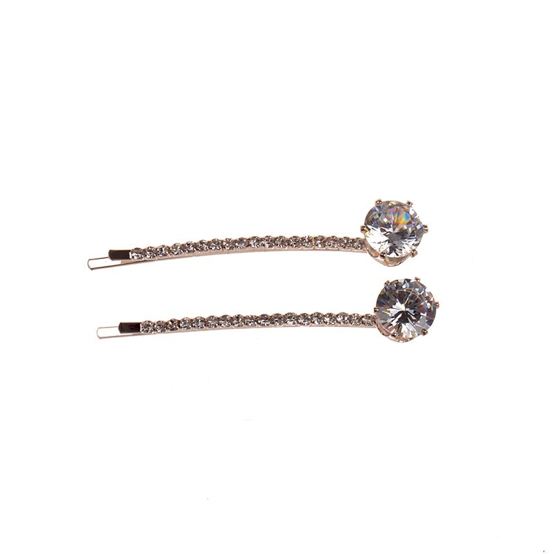 a pair twinkling Zircon wedding hair accessories concise tiara hairpin side clip accesorios para el cabello hair jewelry#k6001
