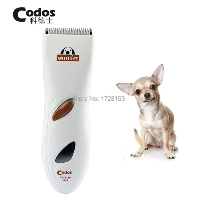 Professional USB Charge Codos CP3180 Pet Trimmer Dog Electric Shaver Grooming Haircut Machine Rechargeable Teddy Hair Clipper