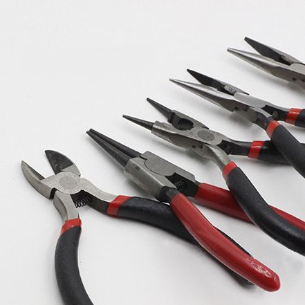 ZEROUP DIY handmade beaded curved needle tools necessary dedicated round nose pliers long  flaring pliers make hole