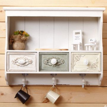 White Wall Cabinet Europe Style 52.5*12.5*40CM