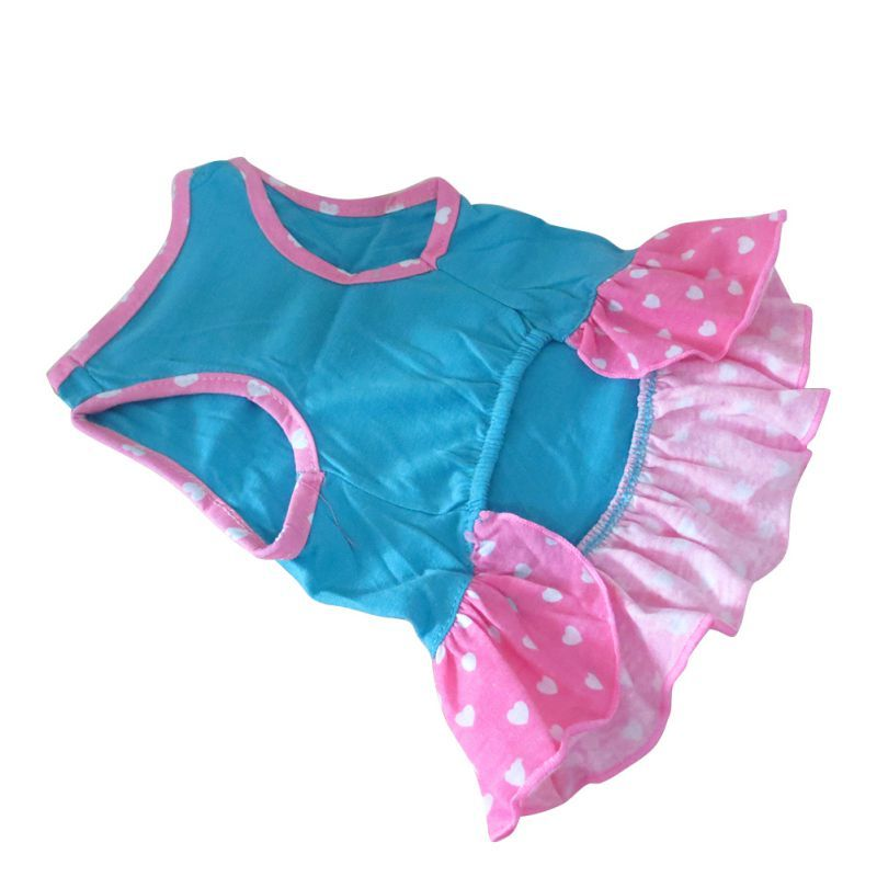 Puppy-Clothes Small Pet Dog Pet Small Dog Clothes For Girls Summer Love Hearts Dress Dog Clothes For Dogs