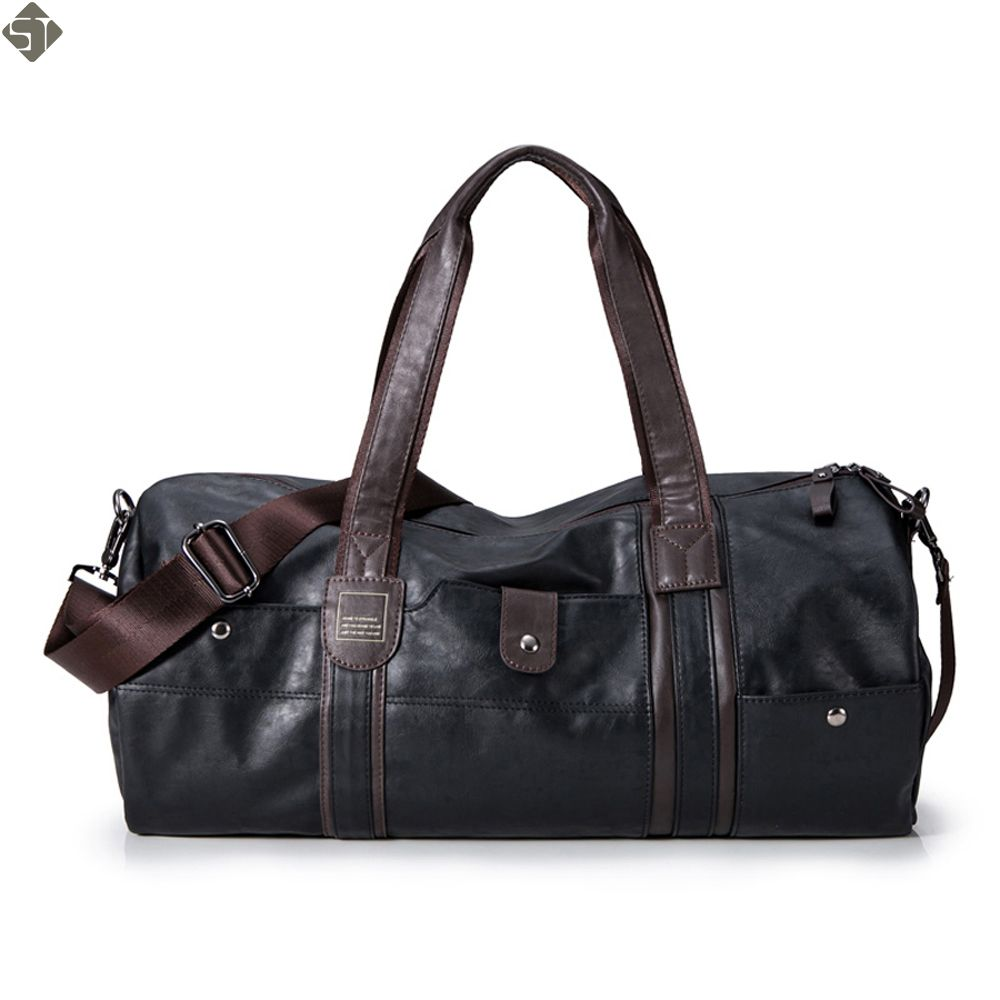 Luxury men travel bags Vintage Brand Leather handbags Big men Business Luggage bag 2019 New women travel bags shoulder bag