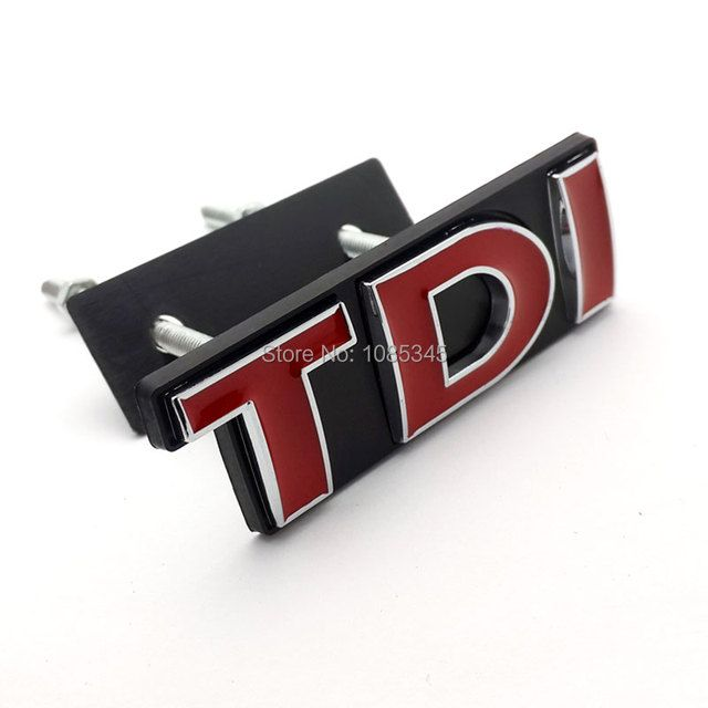 3D RED TDI Front Grill Emblem Badge SPORT EDITION for Volkswagen POLO Golf 4 5 6 7 VW Stickers Car Styling Accessories