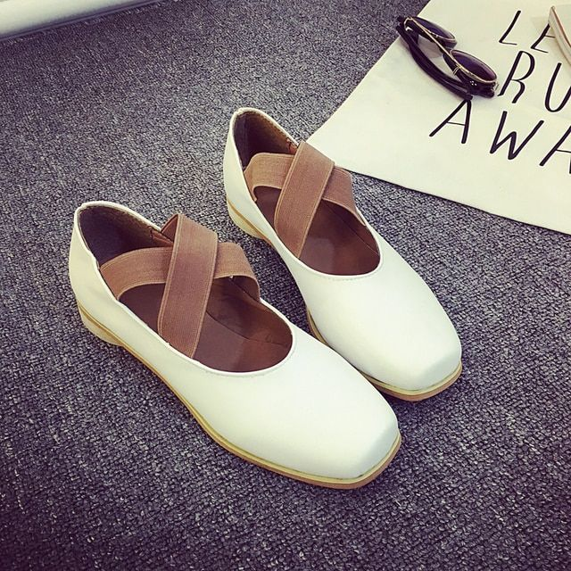 New arrival solid ballet flats women fashion black white loafers woman casual soft leather ballerina flat shoes