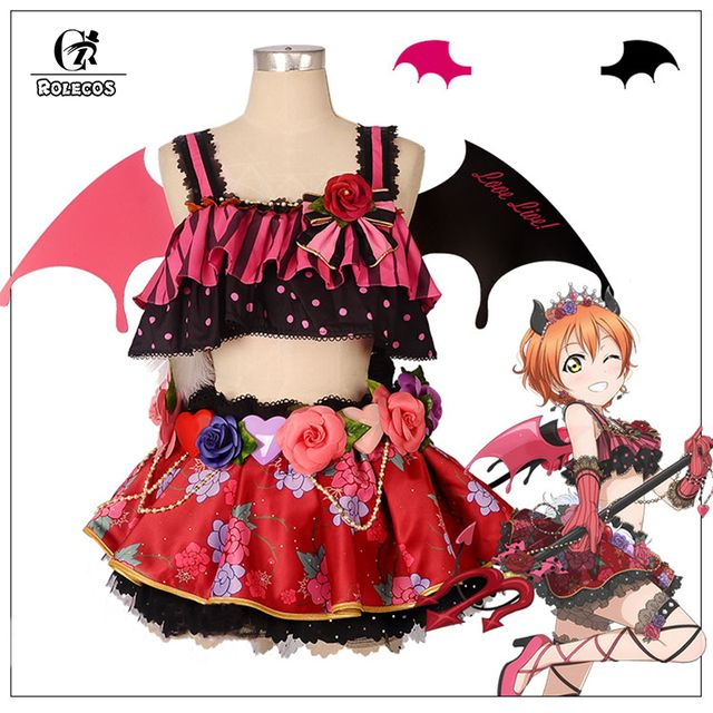ROLECOS Anime Love Live! All Characters Cosplay Costumes Little Devil Arousal Kousaka Honoka Minami Kotori Cosplay Dresses