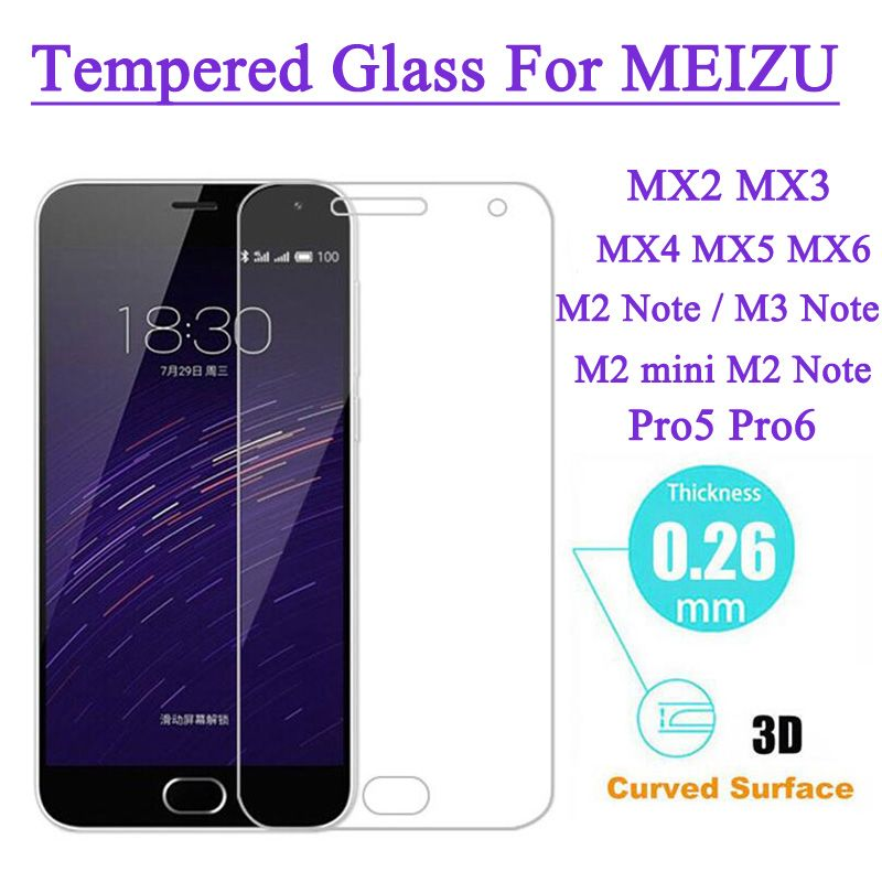 Screen Protector Tempered Glass For MEIZU M2 Note M1 M2 mini Note Pro 5 MX5 MX4 Pro Metal Explosion Proof Film