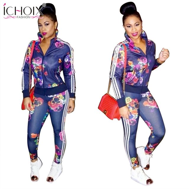ICHOIX Bodysuit women Print sexy bodycon jumpsuit blue Skinny Full Length  Autumn women jumpsuits enteritos mujer 2016