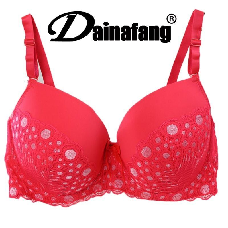 38/85 40/90 42/95 44/100 DE cup big size push up bra,cotton dot sexy underwear bras for women,fashion lingerie brassiere