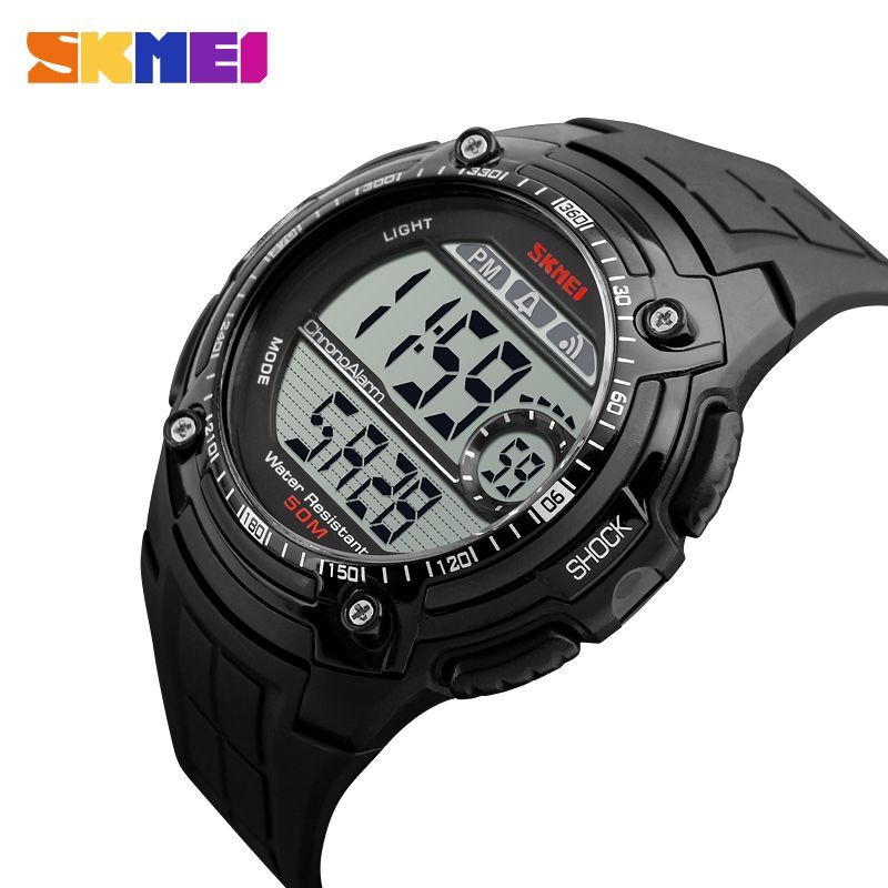 SKMEI Multifunction Sports Watches Men Fashion Back Light Watch Chronograph Alarm Waterproof Digital Wristwatches XFCS