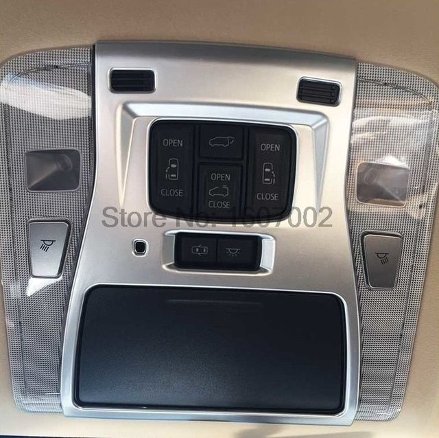 For Toyota Alphard Vellfire 2015 2016 ABS chrome front Reading lamp light cap accessories moulding trim auto styling