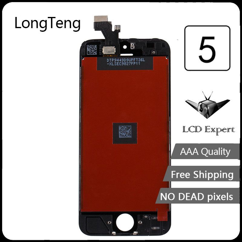 Longteng glass AAA Quality For Apple iPhone 5 Display Screen LCD Assembly Digitizer Glass lcd Display For iPhone 5 Screen