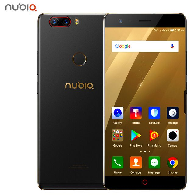 "ZTE Nubia Z17 Borderless 6GB/8GB RAM 64GB/128GB ROM Cell Phone Android 7.1 Snapdragon 835 Octa Core 5.5"" Dual SIM 23.0MP S"