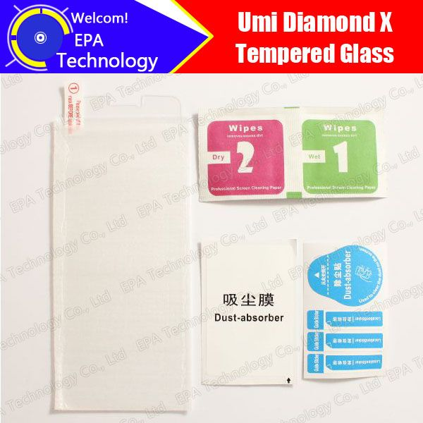 UMI Diamond X Tempered Glass 100% New High Quality Premium 9H Screen Protector Cell Phone Film Accessories fo Diamond X