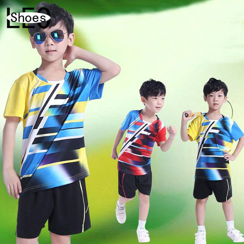 New Kids Sports Jersey Wicking Breathable Clothing Children Badminton Racing Suit T-Shirt Table Tennis Clothes