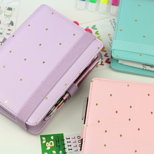 Little star Macaron Spiral Notebook PU Leather Agenda Planner Organizer Personal Notebooks and Journals School Gifts Supplies
