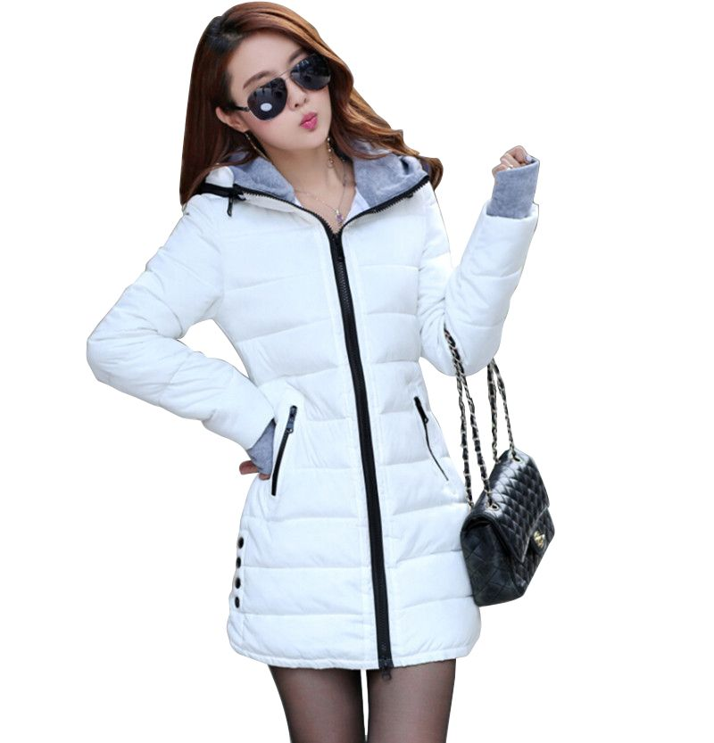 Wadded Jackets 2018 Female New Women's Winter Down Jacket Cotton Slim Women Down Parka Ladies Coat plus size M-XXXL CC276
