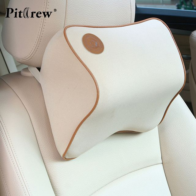 1PCS 2018 New Design Space Memory Fabric Car Pillow Personality Headrest Car Seat Cover Travel Office Neck Pillow 27*22*12 cm