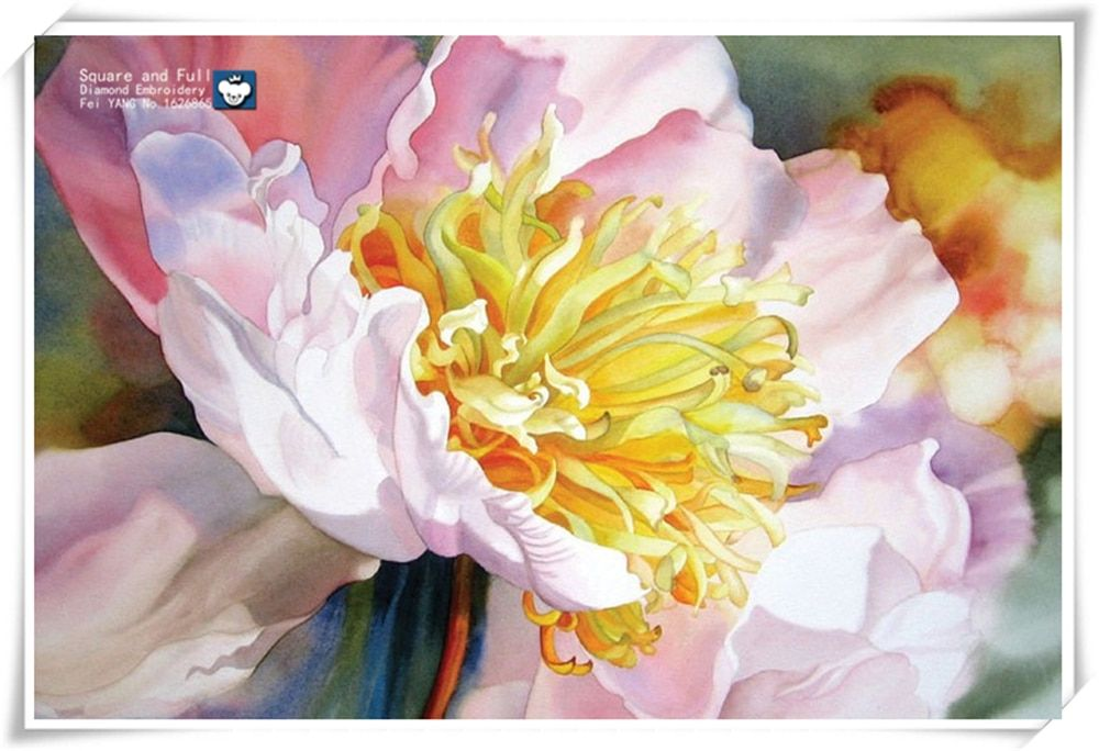 2015 new Chinese Peony Trends 5D DIY Diamond Embroidery Flowers Colorful Top Design Diamond Painting Flowers Diamond Mosaic kits