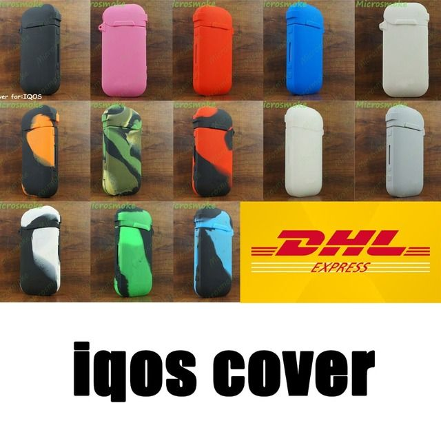 500pcs free shipping by DHL IQOS Electronic Cigarette Travel Case, Carrying silicon pouch/holder for E-cigarette by RHS 41g