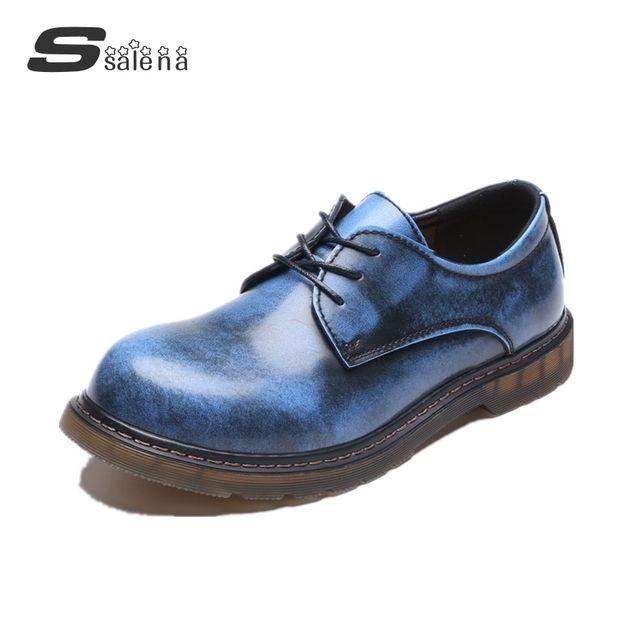 Hot selling men oxfords shoes men's casual lace-up low to help shoes  korean version leather shoes #C011