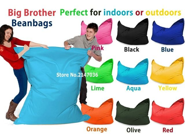 big brother adults tear resistant bean bag chair, outdoor and indoor both use beanbag
