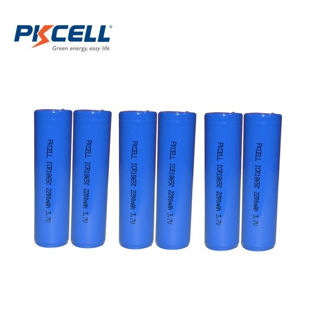 6Pcs PKCELL Bateria 18650 Battery 3.7V 2200mAh ICR 18650 Rechargeable Batteries Li-ion Lithium Battery
