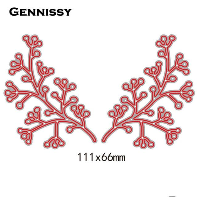 2pcs Steel Leaves Tree Cutting Dies Stencil DIY Embossing Scrapbooking Photo Album Decorative Template Craft