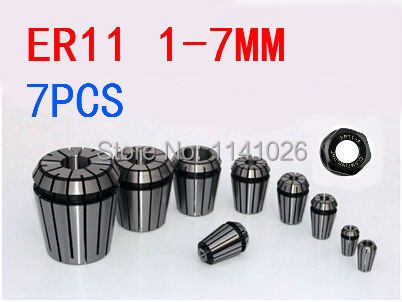 Free Shipping 7PCS for Choose ER ER11 Collet Chuck for Spindle Motor Engraving/Grinding/Milling/Boring/Drilling/Tapping