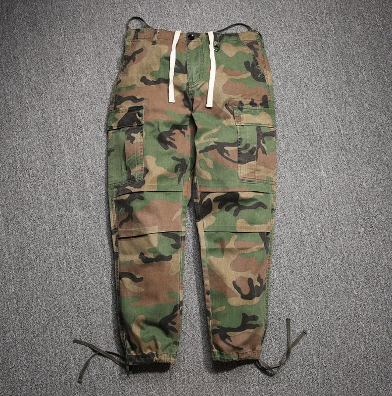 30-36 hip hop mens big and tall trousers Jay-z kanye camouflage cargo pants fashion free planet factory connection clothing camo
