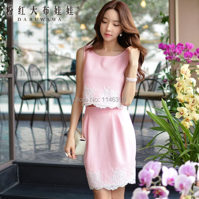 dabuwawa 2016 summer suit ladies sleeveless leisure women set