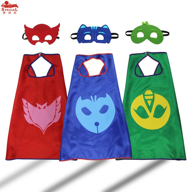 SPECIAL L 27* Child PJ Cape Mask Cosplay Costume toys for kids pj masks costume dress up birthday party gifts cartoon masque