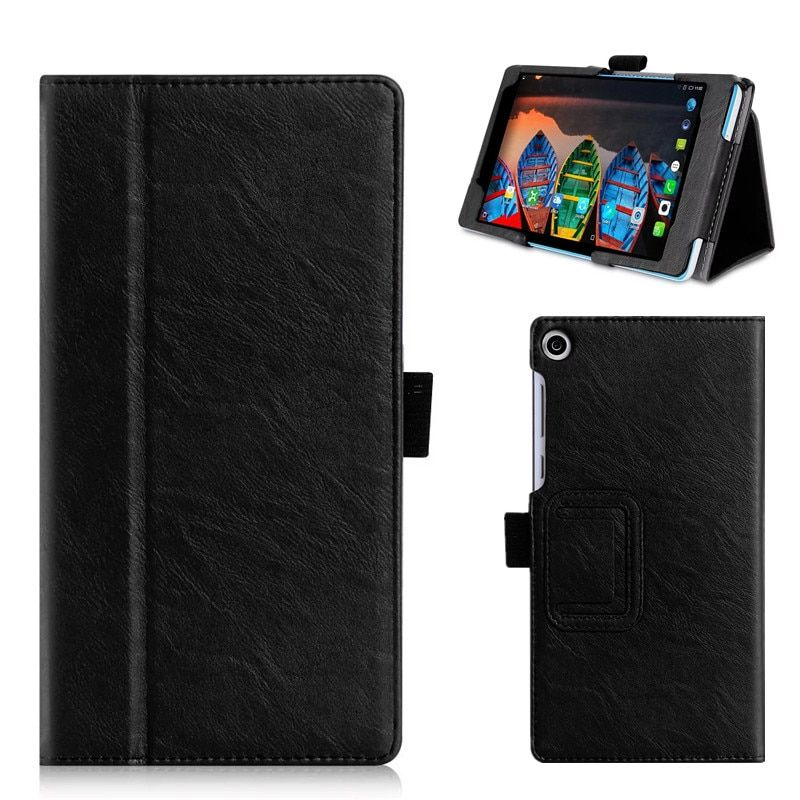 For Lenovo Tab 3 A7 730M PU Leather Case Slim Cover Tablet Stand Case with Hand Holder Card Slots for Lenovo Tab 3 A7 Tab3-730M