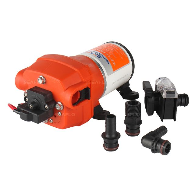SEAFLO 12 V 4 Chamber Small Powered Water Transfer Pump 2.7 GPM 17PSI 4.5A Marine RV Boat Pond Fountain Self Priming