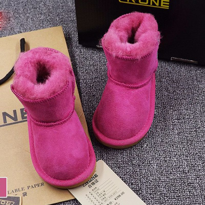 children's sheepskin boots baby  toddler shoes warm winter Children Infant Toddler shoes