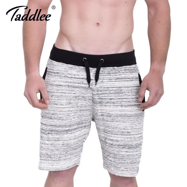Taddlee Brand Men's Gym Shorts Sport Running Fitness Gasp Short Bottoms Bodybuilding Training Soft Stretch Boxer Trunks Big Size