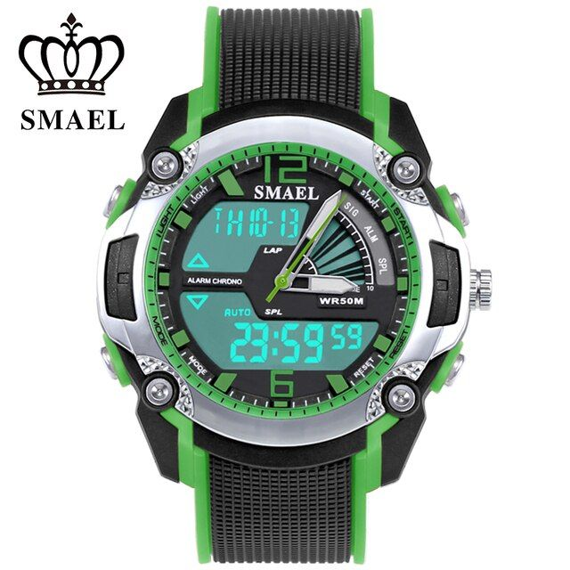 New Digital Watch for Kids 50m Waterproof Dual Time Wristwatch LED Clock Children Outdoor Sport Watches Kid Digital-watch WS1343