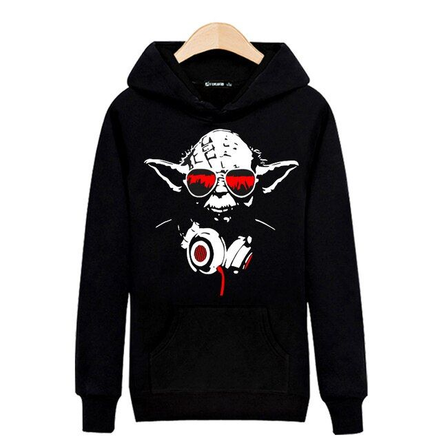 Master in STAR WARS 2018 Spring Harajuku Sweatshirt Black in Men Hoodies and Sweatshirts Brand Luxury Plus size 5xl