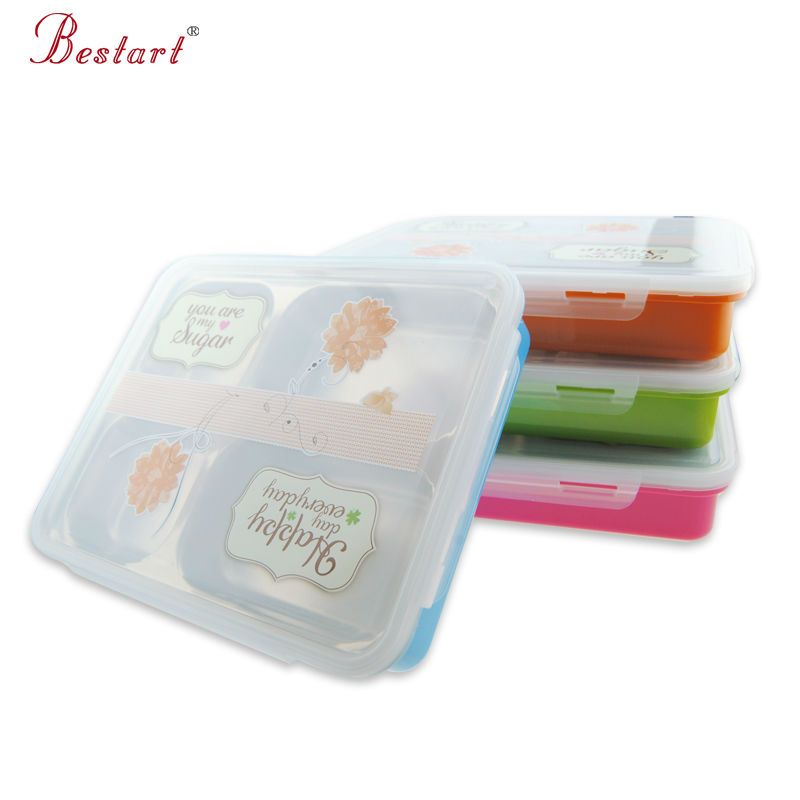 304 Stainless Steel Bento Box Hot Water Heating School LunchBox handle Food Containers with Compartments Picnic For Kids Dinner
