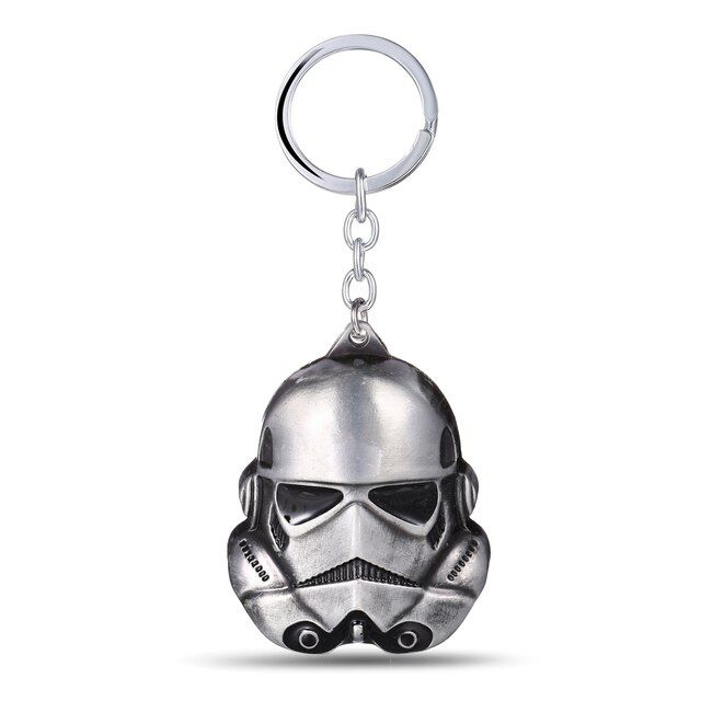 Star Wars Keychain Christmas Gifts 3D Storm Trooper Darth Vader Mask KeyChain Soldiers Metal Keychain Lucasarts for MEN