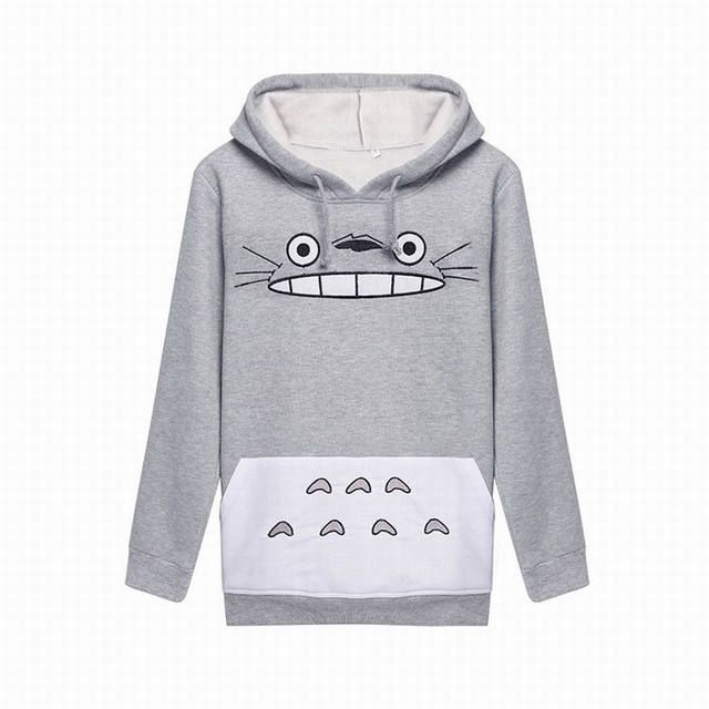 2016 New Arrival Japan Anime Totoro Women Clothes Pokemon Sweatshirts Pullovers Girl Hoodies Cartoon Cosplay Halloween Costume