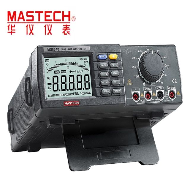 MS8040 Digital Multimeter True AC DC Voltage Current Auto range True RMS Low-pass filtering With RS-232 Interface Multimeters